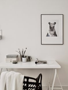 Small space inspiration: a lovely Swedish office