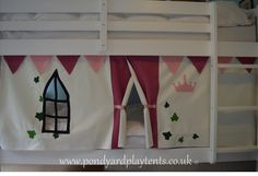 Princess Castle Child's Bunk Bed Tent. Create A Perfect, Secret Hideaway To…