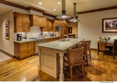 Ultimate luxury, chef's kitchen at Great Bear Lodge, The Village at Northstar #TahoeMountainLodging