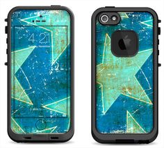 Antique Stars Skin Decal for the iPhone 4/4s Lifeproof Case or iPhone 5/5s Lifeproof Case