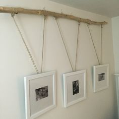 Driftwood Hung Picture Frames // Over The Bed Decor