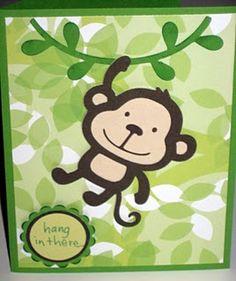 cute monkey card #cricut
