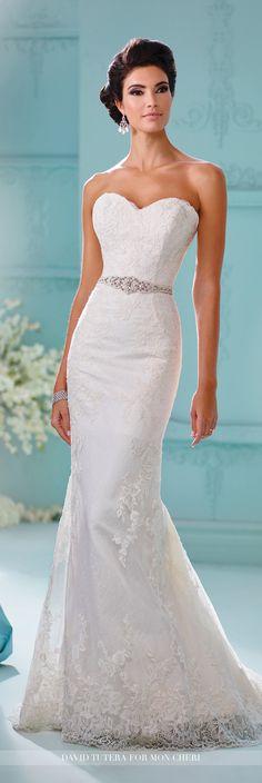 Strapless Sheath Wedding Dress David Tutera