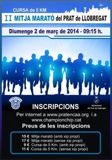 II mitja marató del Prat del Llobregat. 2 de març de 2014