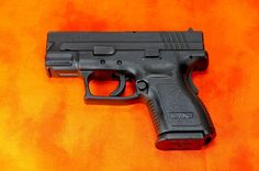 Just bought one last week. Great for concealed carry. Overall a fantastic handgun! Springfield Xd Subcompact, Springfield Armory, Weapons Guns, Guns And Ammo, Big Girl Toys, Love Gun, Military Women, Orange Background, Concealed Carry