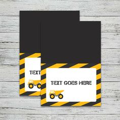 This theme is explosive! Dump everything and grab our adorable construction themed printables. Food Cards, Construction Party, Cupcake Wrappers, Party In A Box, Table Cards, Recipe Cards, Party Printables, Invitations, Save The Date Invitations