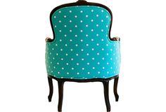 Polka-Dot Bergères, Pair - One Kings Lane - Vintage & Market Finds - Furniture