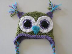 Crochet Owl Hat... adorableeeeeeee  One of my students had this hat!!