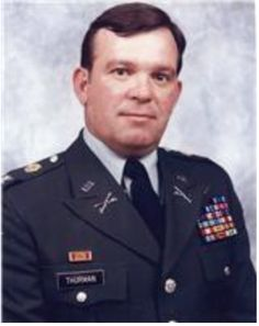 Colonel J.W. Thurman; Colonel in charge of the U.S. Army Armor School at Fort Knox when I was a brand new lieutenant.  Wild man of the highest degree.  I think he would beat us to the O-Club on Friday nights.  They broke the mold with COL J.W. Thurman.