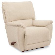 A nice, petite, modern looking rocking recliner.