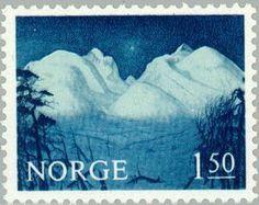 Norway, Landscape stamp, 1965