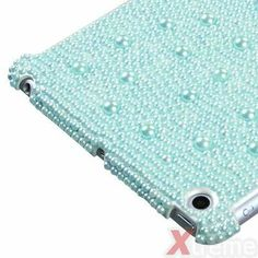New For APPLE iPad Mini Case Cover Pearl 3D Diamond Baby Blue Smart-Slim Fit