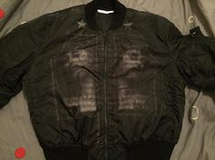 GIVENCHY New Men Black Jacket Bomber Jesus Size XXL Chest Size 44 UK RRP: £1650