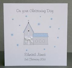 Handmade-Personalised-Christening-Card-Church-Girl-or-Boy