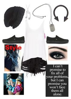 """Untitled #585"" by bands-music ❤ liked on Polyvore featuring La Senza, rag & bone, Vans, Laundromat, Love Quotes Scarves, Tiffany & Co., Allurez, women's clothing, women's fashion and women"