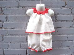 White baby summer organic set nb 1T 2T 3T 4T 5T от TheBabemuse