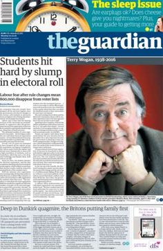 Sir Terry Wogan honoured in newspaper headlines - BBC News
