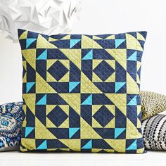 All Back to Mine {a finished quilt and cushion cover} | Material Girl Quilts in Issue 15 of Love Patchwork & Quilting