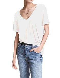 New Trending Blouses and Shirts: Haola Women's Summer V Neck Short Sleeve Loose Tops Casual T Shirts M White. Special Offer: $12.96 amazon.com Haola Women's Summer V Neck Short Sleeve Loose Tops Casual T Shirts M WhiteAvailable in regular Size, PLS CHOOSE THE SIZE AS YOU USUALLY WEAR (Note:The Generic Amazon Size Chart is not our size) ALL shipped by FBAMachine Wash / Tumble Dry / No...