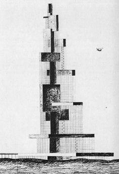 REGINALD MALCOLMSON - THE LINEAR METROPOLIS / THE EXPANDING SKYSCRAPER, 1956