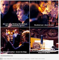I truly loved Mrs. Hudson in series four.  I always knew she was awesome, I had no idea HOW awesome, though!