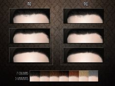 A simple straight hairline for TS4 Found in TSR Category 'Sims 4 Female Skin Details'