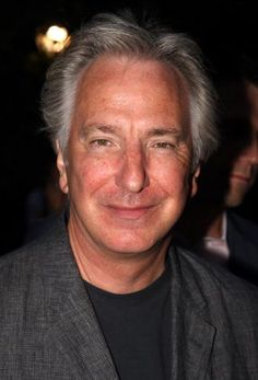 """Alan Rickman poses at the Opening Night arrivals for """"Hair"""" at Shakespeare in the Park at the Delacorte Theater in Central Park on August 7, 2008 in New York City.   August 07, 2008