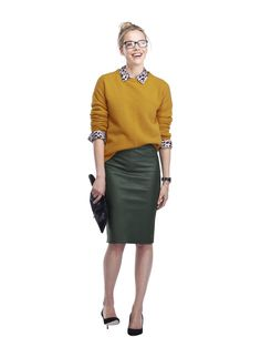 Baukjen Monmouth leather pencil skirt - love this outfit #BaukjenTreats
