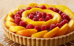 Bake With Anna Olson TV Show recipes on Food Network Canada; your exclusive source for the latest Bake With Anna Olson recipes and cooking guides. Anna Olson, Desserts Ostern, Köstliche Desserts, Dessert Recipes, Easter Desserts, Fruit Flan, Fruit Tart, Raspberry Tarts, Raspberry Recipes