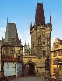 20.  Lesser Town Bridge Towers/Malostranské mostecké věže- situated at one end of Charles Bridge, and is the ancient gate to the Lesser Town (Malá Strana).  For tourists arriving from the Old Town, this is the main pedestrian entrance to the Lesser Town, a lovely quarter of Prague with restaurants, bars and boutique shops. Two towers line up to welcome visitors to the castle district, and the lovely street Mostecka.