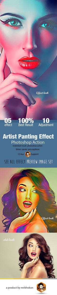 Artist Panting Effect - Photo Effects Actions