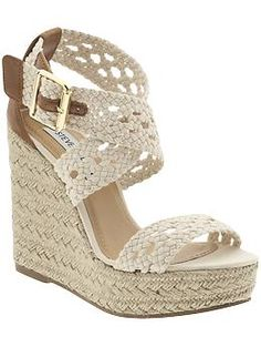 steve madden wedges. this weather is making me ready for open toe season!