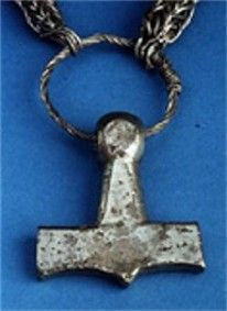 Silver Thors hammer   9th Century CE. Sejerby, Denmark