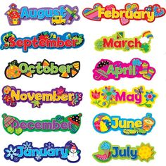 List of the Months of the Year
