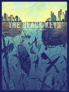 More awesome posters for The Black Keys...