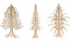 laser cut wood trees