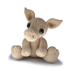 Pig Amigurumi Crochet Pattern PDF Instant Download - Herbie by PatchworkMoose on Etsy https://www.etsy.com/listing/450971774/pig-amigurumi-crochet-pattern-pdf