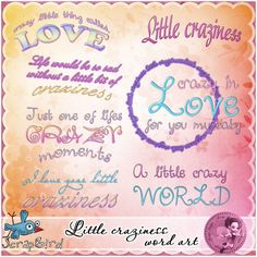 Little craziness word art by Scrap'Angie