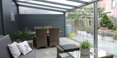 Verasol #Gartenraum Pergola With Roof, Outdoor Pergola, Backyard Patio, Outdoor Spaces, Outdoor Living, Outdoor Decor, Covered Patio Design, Garden Room Extensions, House Extension Design