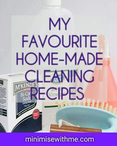 Here are my favourite tested and tried home-made cleaning products. From shower sprays, to the toilet and everyday cleaning there's a bit of everything in this list of home-made cleaners and ingredients you most likely already have!