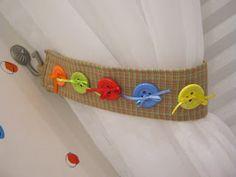 Ideias de decoração com botões.                                                                                                                                                                                 Mais