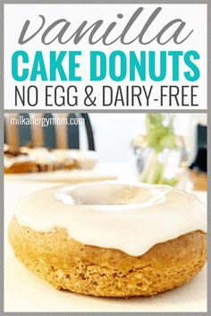 A unique, double-decker donut with sprinkles! Unsuspectingly dairy-free, egg-free, and vegan, and it's easy to leave off Egg Free Recipes, No Dairy Recipes, Donut Recipes, Dip Recipes, Vegan Recipes, Dairy Free Birthday Cake, Birthday Cake For Mom, Dairy Free Donuts, Egg Free Cakes