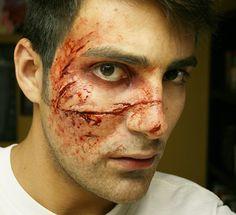 Makeup effects and makeup work.