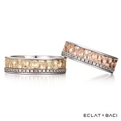 Couple Bands, Wedding Jewelry, Wedding Bands, Jewelry Rings, Gold Rings, Bling, Engagement Rings, Jewels, Diamond