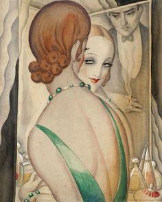 Gerda Wegener (1885-1940) At the mirror 1931-1936 /  Arken Museum for Moderne Kunst / Art Blart