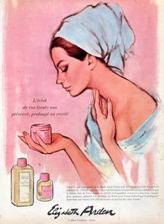 a beautiful woman is a profound responsibility. (Elizabeth Arden vintage skin care ad)Being a beautiful woman is a profound responsibility. Vintage Makeup Ads, Retro Makeup, Vintage Beauty, Vintage Redhead, Retro Advertising, Retro Ads, Vintage Advertisements, Pub Vintage, Beauty Ad