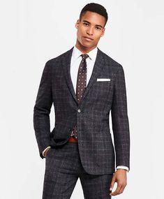 Brooks Brothers Plaid Two-Button Twill Suit Jacket Windowpane Suit, Suit  Jacket, Brooks 2bccbae68bb