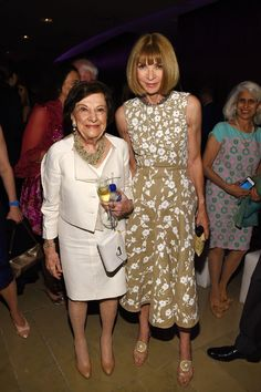 Founder of Fashion Calendar Ruth Finley and editor-in-chief of American Vogue Anna Wintour attend the 2014 CFDA fashion awards at Alice Tully Hall, Lincoln Center.