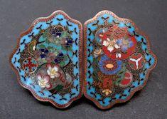 Antique Japanese Cloisonne Enamel Belt Buckle Sash, Belt Buckles, Enamel, Japanese, Antiques, Jewelry, Antiquities, Vitreous Enamel, Antique