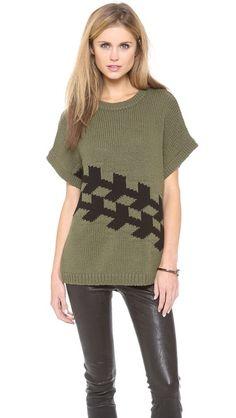 Tibi Corded Chevron Sweater